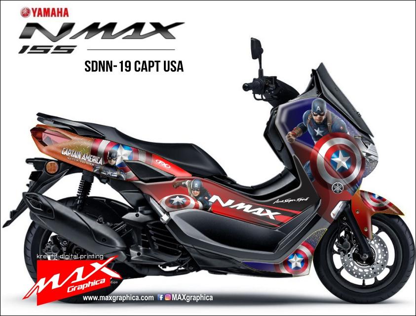 sticker decal new nmax captain america fullbody print