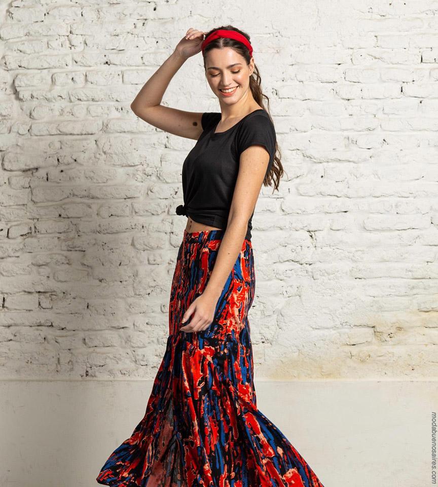 Faldas primavera verano 2020 moda mujer. Moda 2020 estilo urbano ropa de mujer.