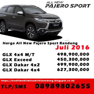 Harga Mitsubishi Pajero Bandung Juli 2016, Price List Mitsubishi Bandung 2016, Mistubishi Bandung