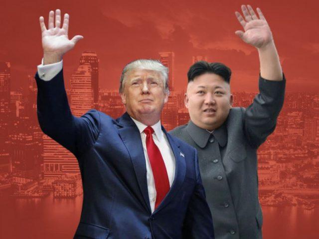 Trump and Kim at historic Singapore summit