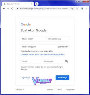Cara Membuat Akun Google Baru Di Laptop/Komputer (PC) Tanpa Nomor HP (SIM Card)