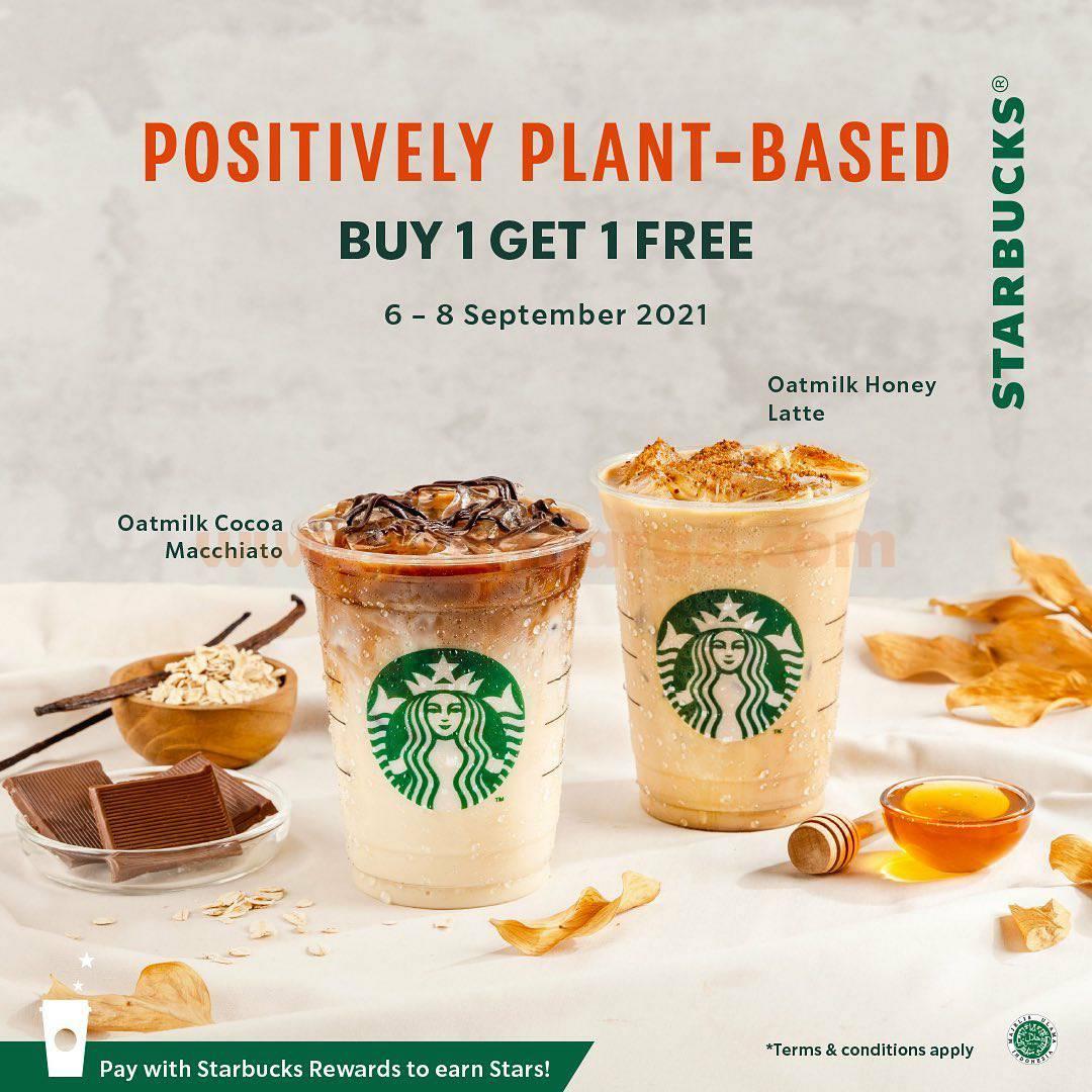 Promo Starbucks Positively Plant-Based *Buy 1 Get 1 Free