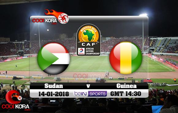 مشاهدة مباراة السودان وغينيا اليوم 14-1-2018 بطولة أفريقيا للاعبين المحليين
