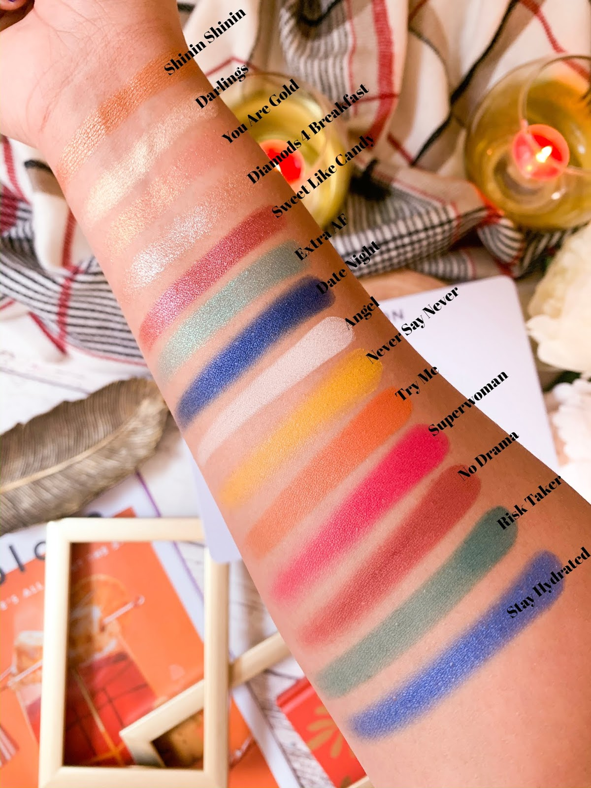 Patricia Bright Palette Swatches Two