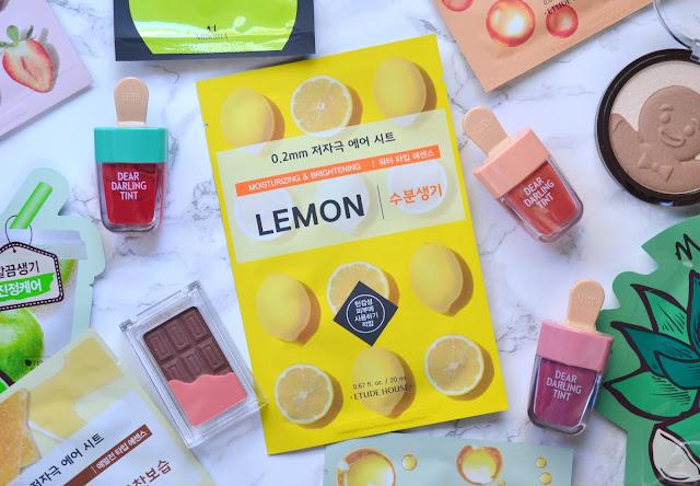 Lemon Etude House Therapy Air Mask Flatlay
