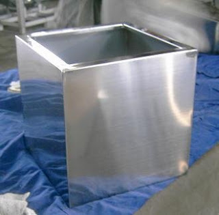 pot bunga stainless bagus