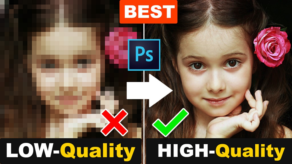 make low to high quality image