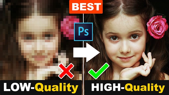 How to depixelate images and Convert into High Resolutions Photo in Photoshop
