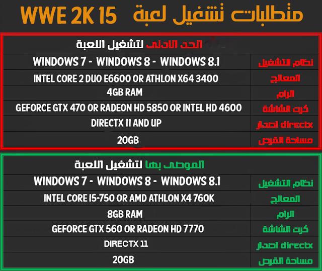 تحميل لعبة المصارعة wwe 2k15 برابط واحد مباشر