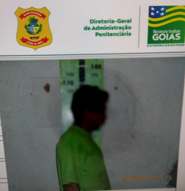Rio Verde: Detento foge de presídio e é recapturado em menos de uma hora