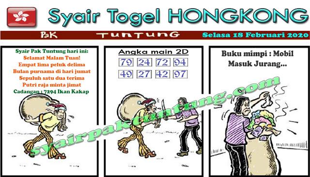 Prediksi Togel Hongkong JP 17 Februari 2020 - Prediksi Pak Tuntung
