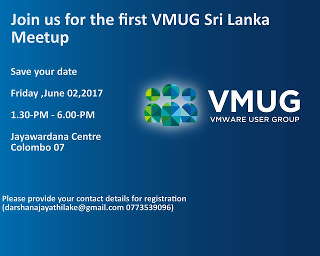 First Time in Sri Lanka - VMware User Group Meetup