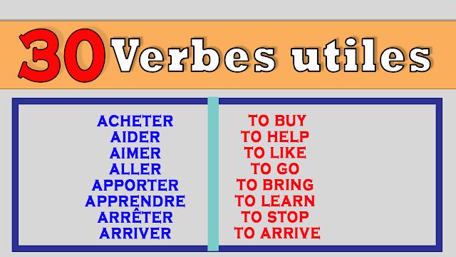30 Verbes Très Utiles en français