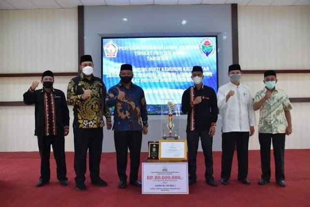 Lomba Gampong Tingkat Provinsi Aceh, Bukit Kemuning Raih Juara 3