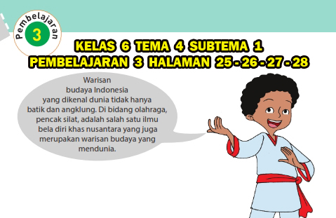 Kelas 6 Tema 4 Subtema 1 Pembelajaran 3