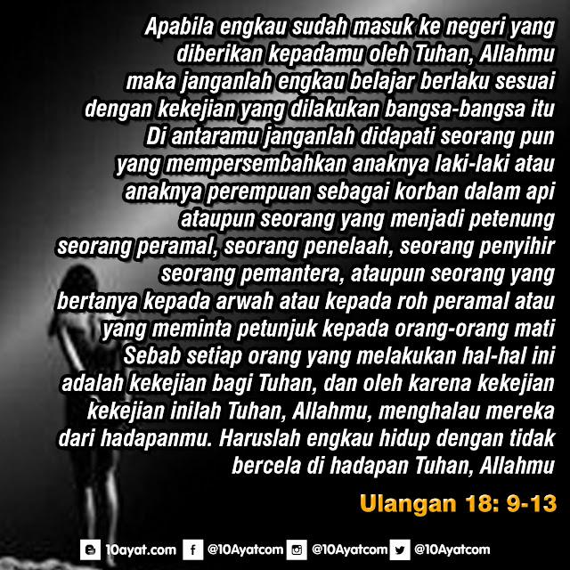 Ulangan 18: 9-13