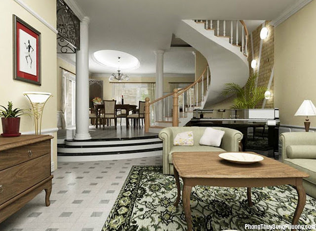 Thiết kế nội thất nhà ở theo phong thủy 1