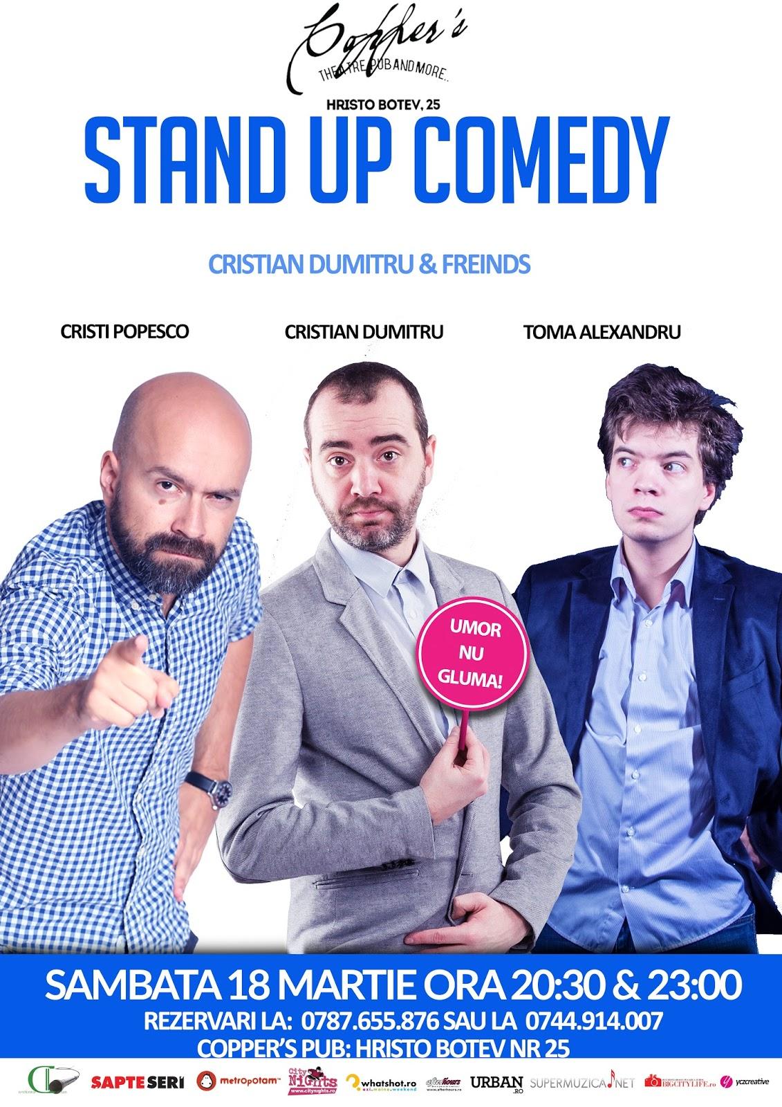 Stand-up Comedy Sambata 18 Martie Bucuresti