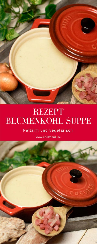 Rezept für eine fettarme Blumenkohlsuppe