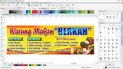 Download Siap Edit Banner Warung Makan Ukuran 1x3 meter CorelDraw