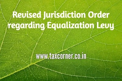 Revised Jurisdiction Order regarding Equalization Levy