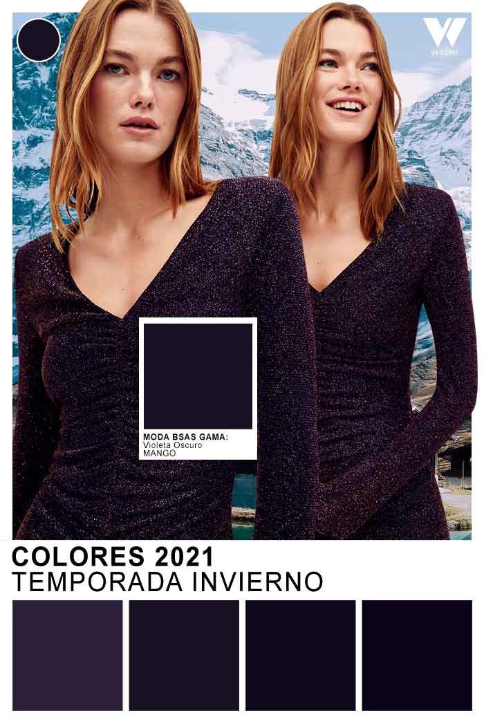 Vestidos de moda colores de moda otoño invierno 2021