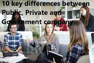 10 key differences between Public, Private and Government company