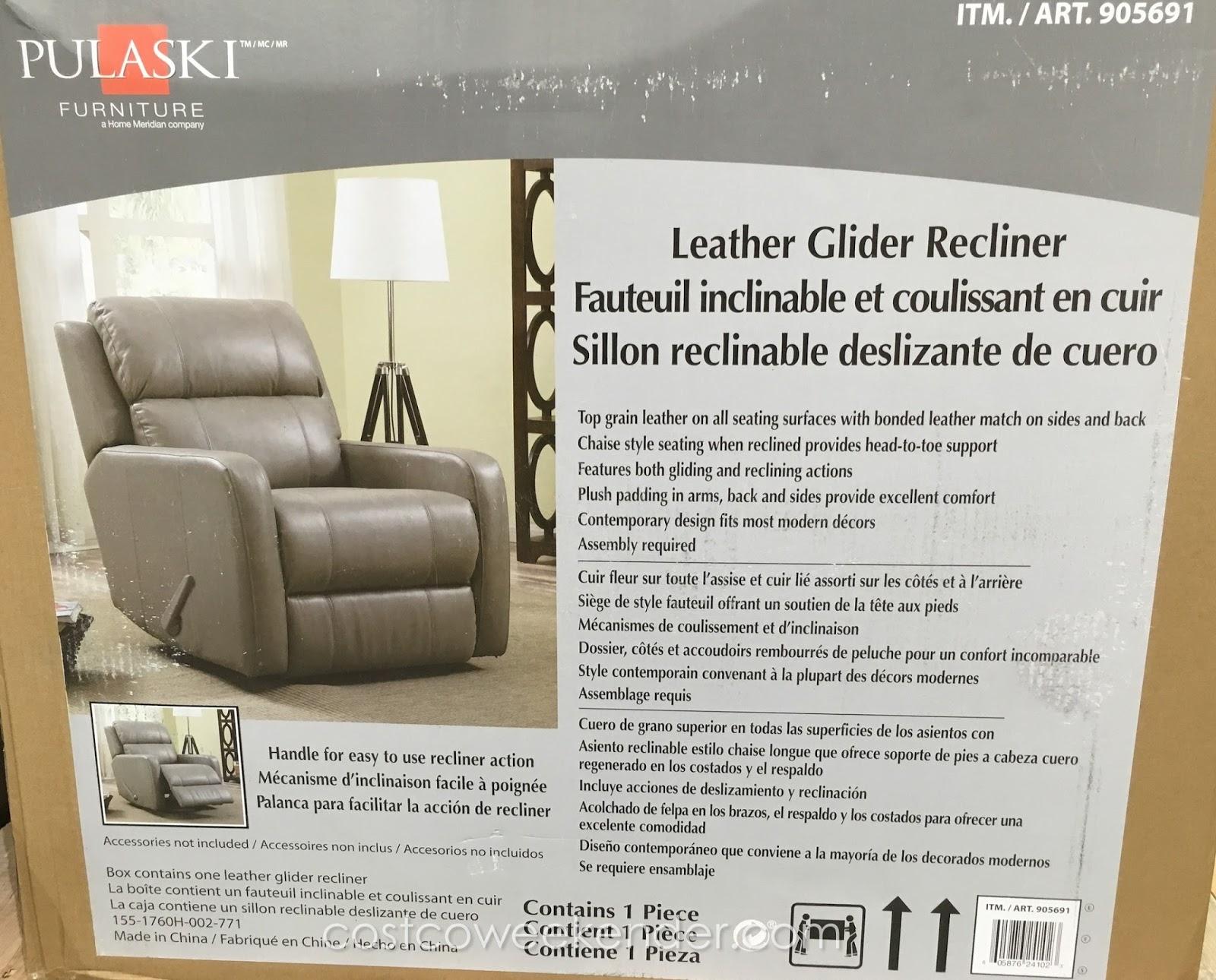 Pulaski Leather Glider Recliner Chair