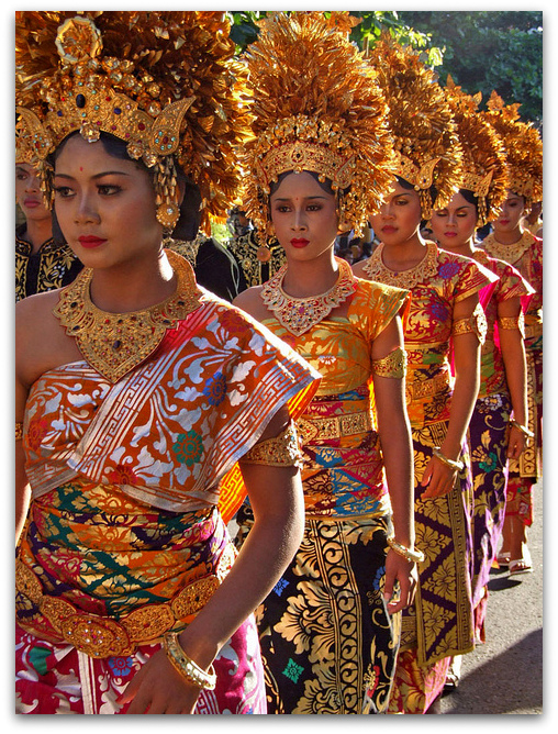 Traditional dresses of the world