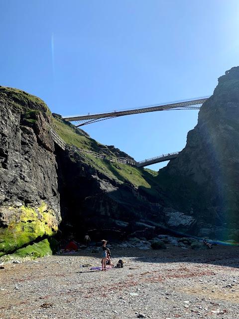 Bridges to Tintagel Castle, Cornwall