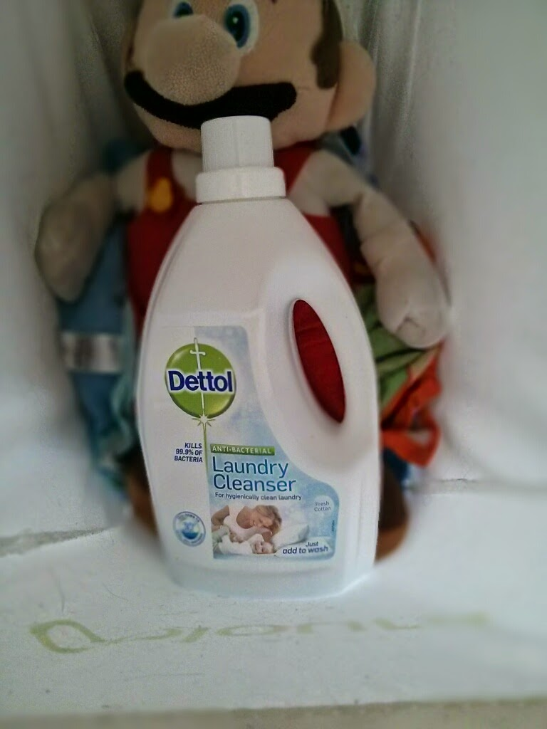 Dettol Antibacterial Laundry Cleanser and Mario