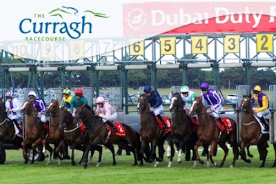 Curragh racecourse, Ireland,