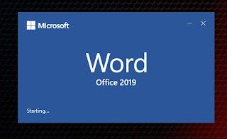 Microsoft word starting...