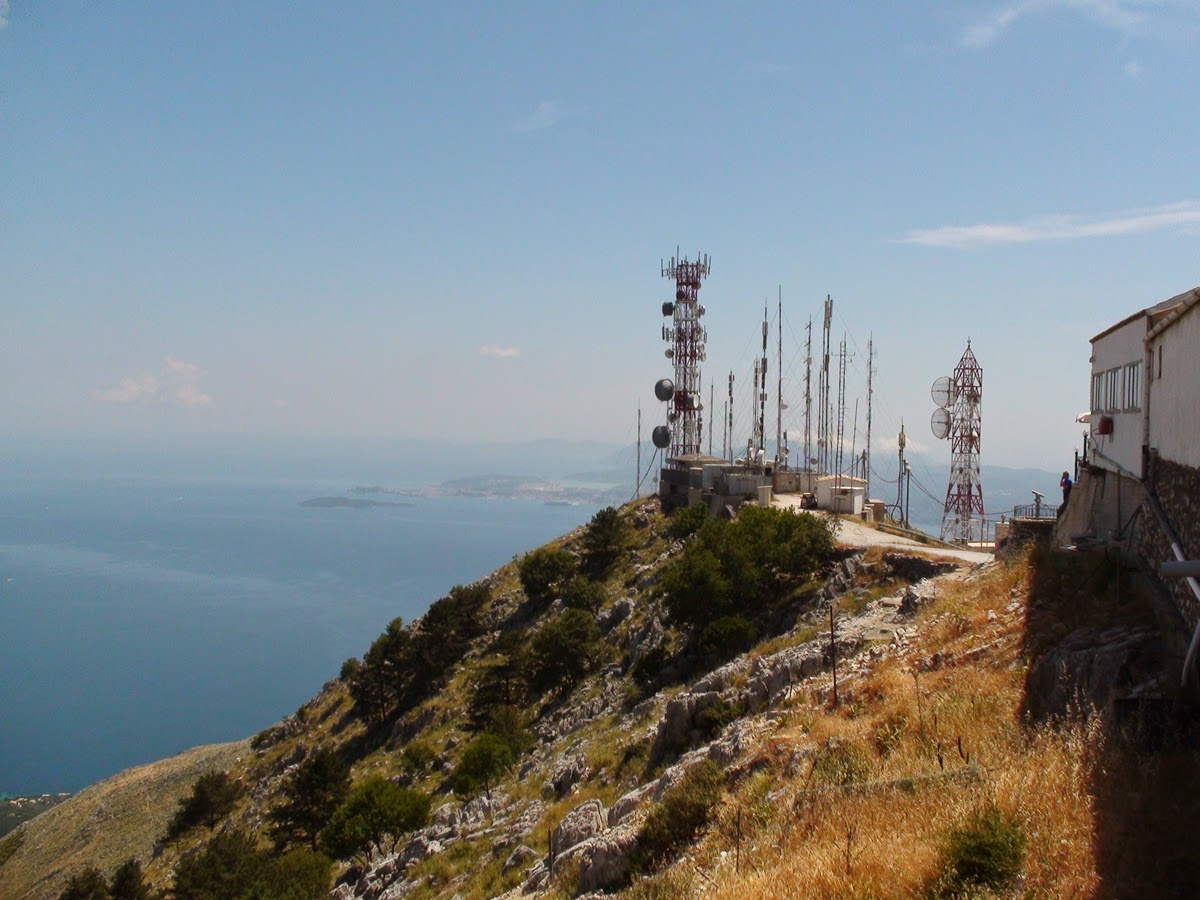 Radio relay station on Mount Pantocrator. Corfu. Greece. Радиорелейная станция на горе Пантократор. Корфу. Греция.