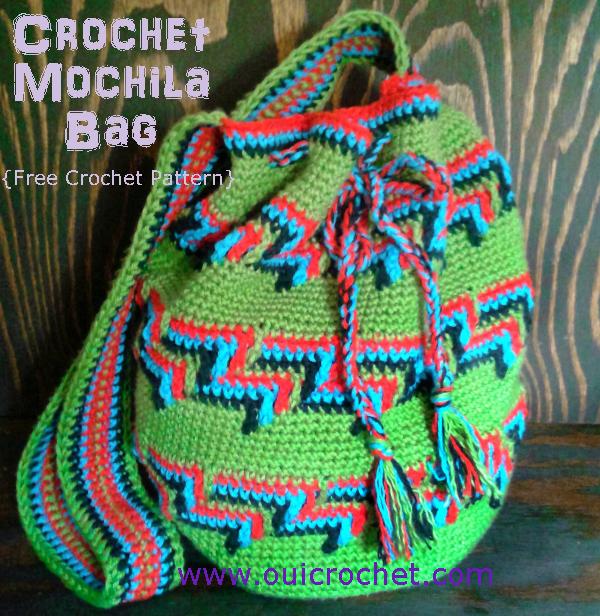 Crochet Mochila Bag, Mochila Bag, Wayuu Bag, Bohemian Bag, Crochet Bag, Crochet Purse, Free Crochet Pattern, Crochet Gifts, Apache Tears Crochet Stitch