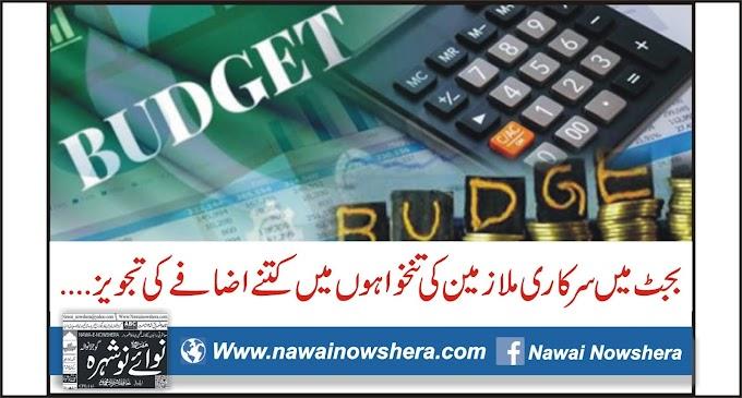 بجٹ میں سرکاری ملازمین کی تنخواہوں میں کتنے اضافے کی تجویز ....