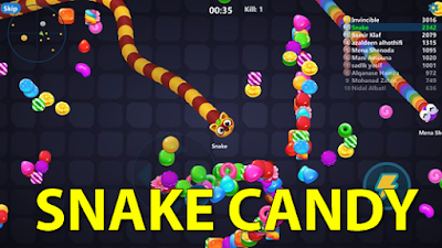 game cacing snake candy
