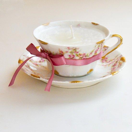 reutilize uma xícara bonita na decoração