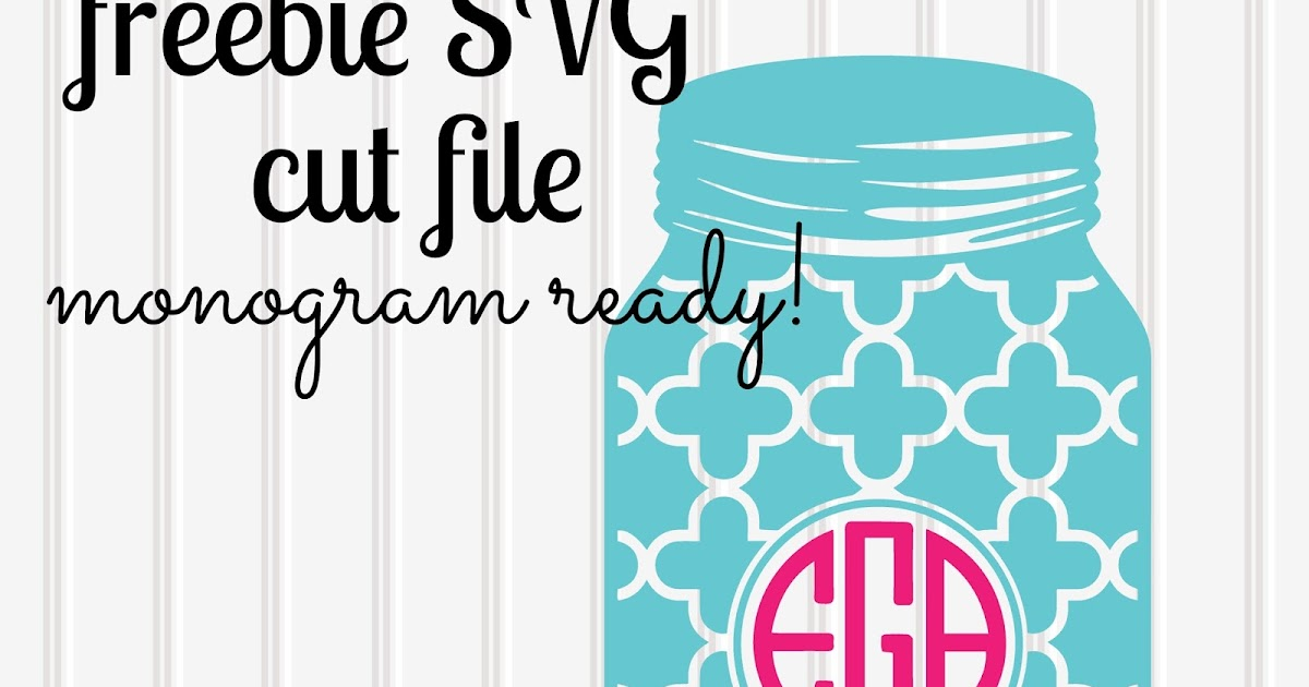 Mason Jar Monogram Svg Beach: Make It Create By Lillyashley