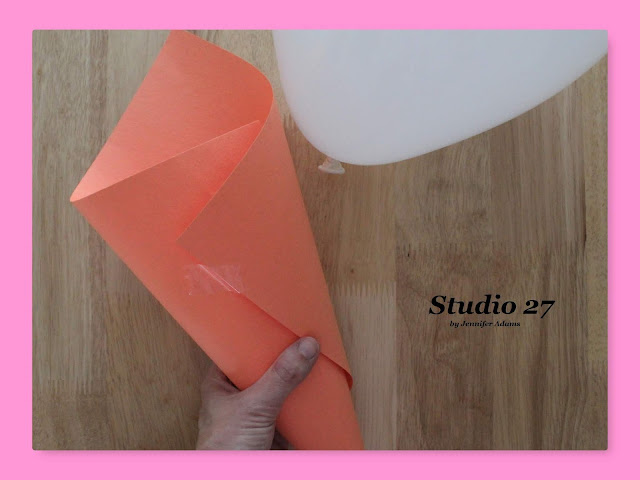 Construction paper cone template