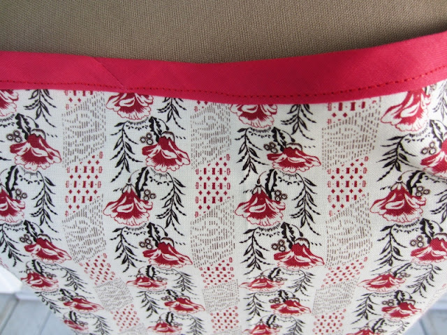 Close-up view of the fabric for All in Rows