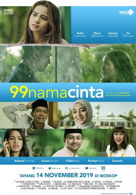 Official Poster Resmi Film 99 Nama Cinta