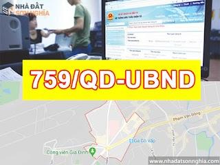 Quyết định số 759/QĐ-UBND quy hoạch khu dân cư phường 3 quận Gò Vấp