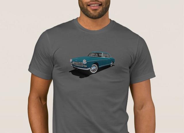 Blue Peugeot 404 Coupé T-shirt