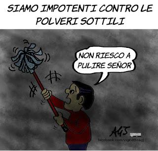 inquinamento, polveri sottili, pm10, nord italia, filippini, umorismo, vignetta, satira