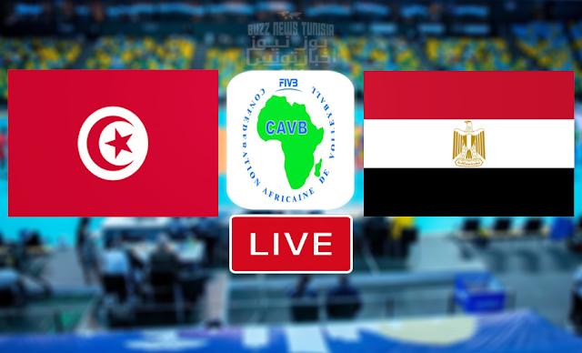 Match En Direct : Tunisie vs Egypt en demi-finales Championnat d'Afrique De Volleyball CAVB 2021