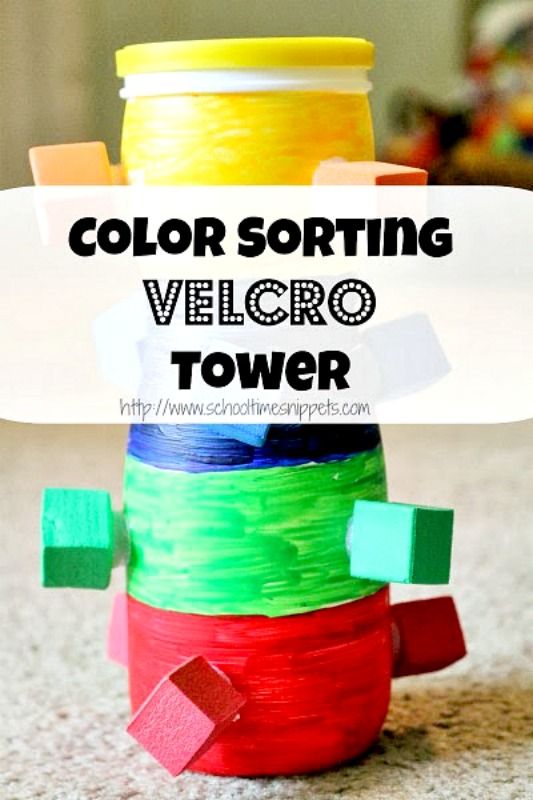 color matching toddler learning activity