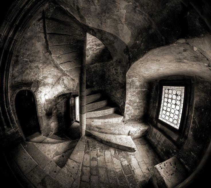 Corvin Castle Circular stairway