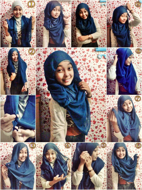 Cara Memakai Jilbab Hoodie Sifon Model Terbaru Tutorial Hijab