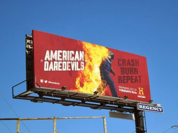 American Daredevils Crash Burn Repeat billboard